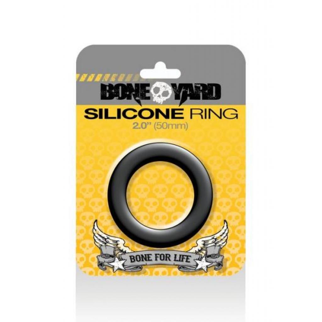 Boneyard Silicone Cock Ring 2 inches Black - Rascal Toys