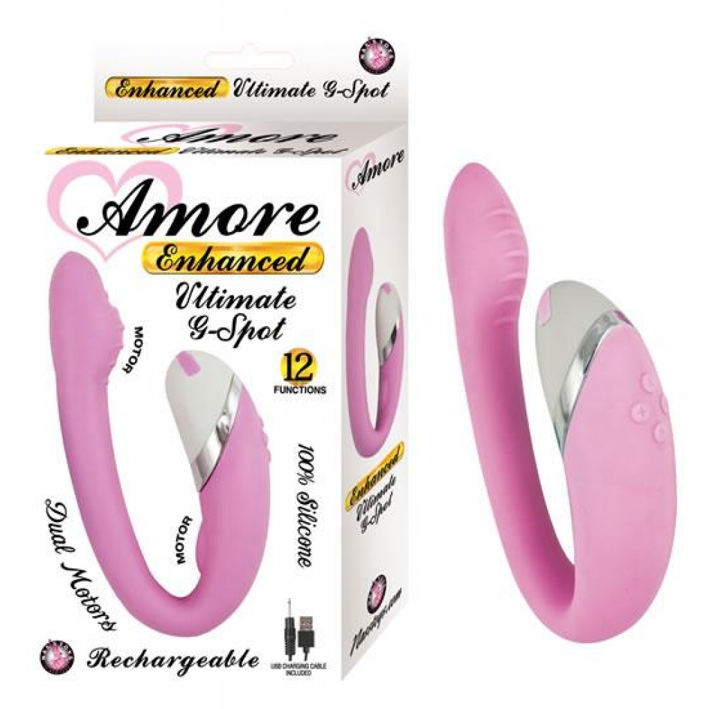 Amore Enhanced Ultimate G-Spot Pink Vibrator - Nasstoys