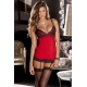 Rene Rofe Hollywood Chemise and G-String Set Red M/L