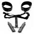 Acquire Easy Access Thigh Harness, Wrist Cuffs Black - Xr Brands